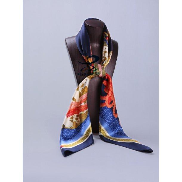 Silketørklæde med kinesisk knuder