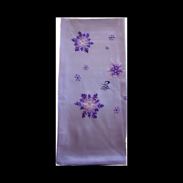 Silketørklæde med sne blomster broderier