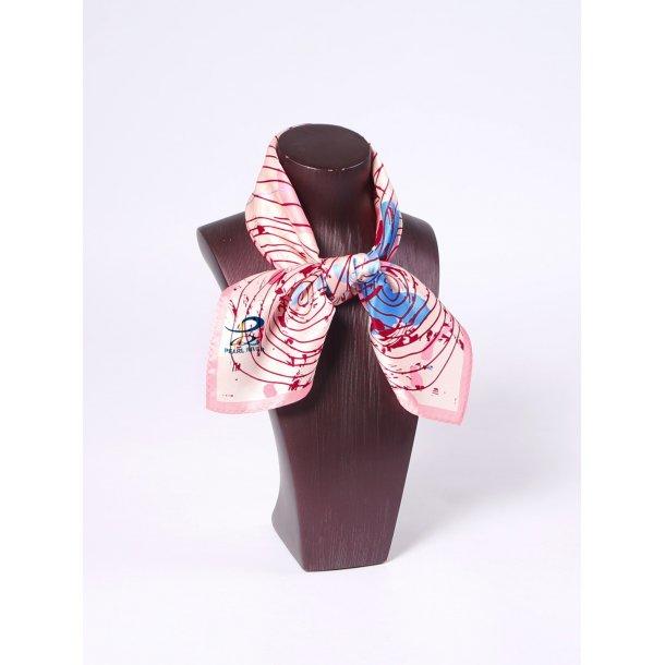 Silketørklæde med spiraler
