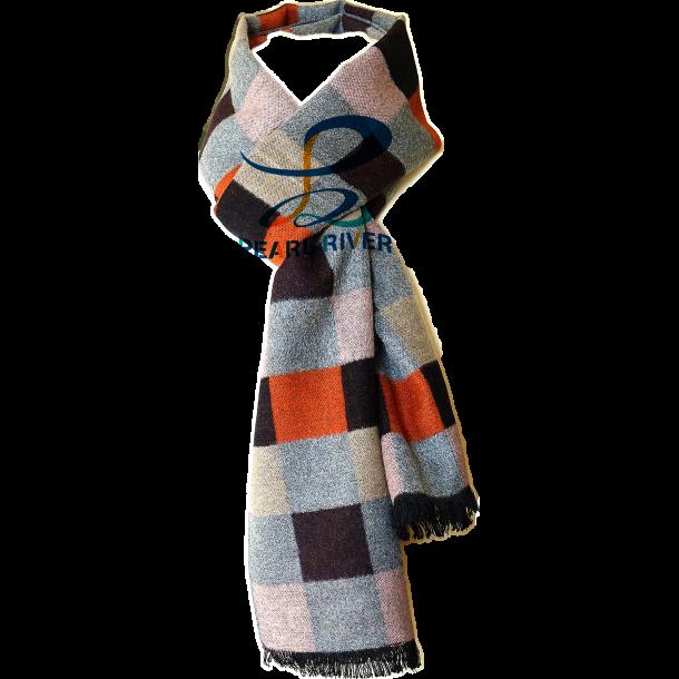 Firefarvet ternet silketørklæde