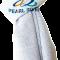 Lysegråt silketørklæde
