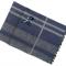 Mørkeblåt stribet silketørklæde med grå farve