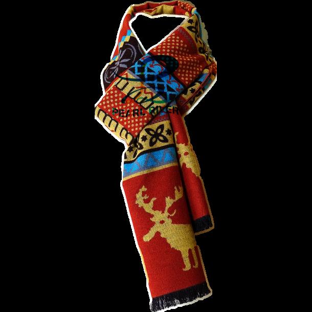 Jule motiv silketørklæde i flotte farver