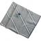Skråstribet silketørklæde i kadetblå og grå